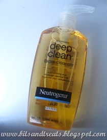 neutrogena deep clean facial cleanser, by bitsandtreats