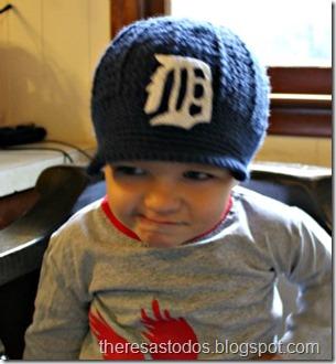 Crochet Detroit Tiger Brimmed Beanie