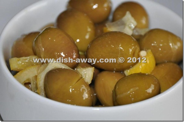 Pickled Green Olives Recipe by www.dish-away.com