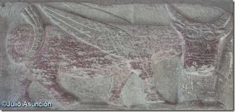 Toro alado de la iglesia de Gazólaz - Cendea de Cizur