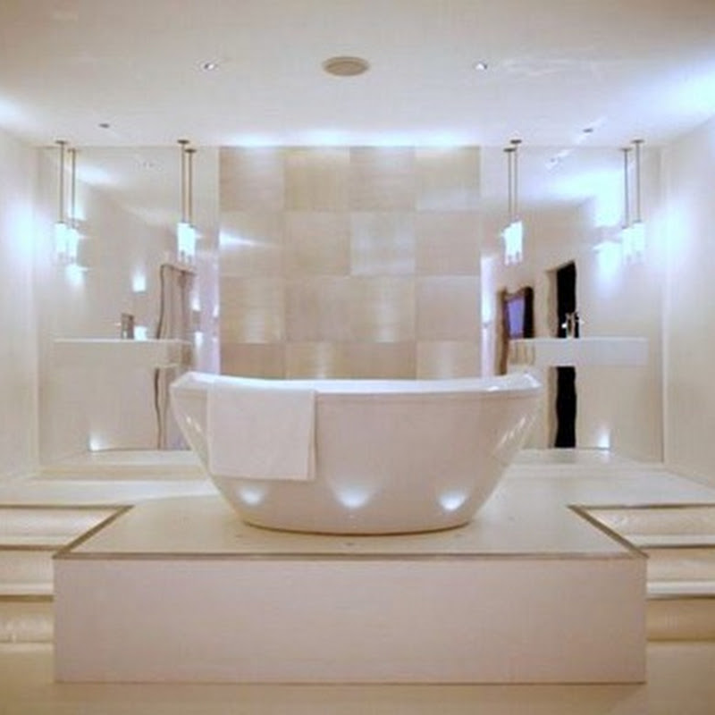 Baños Modernos Iluminacion:Ideas de iluminación para un cuarto de baño moderno – iDecorar