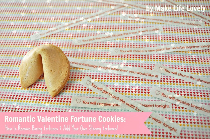 Romantic Valentine Fortune Cookiesby Make Life Lovely