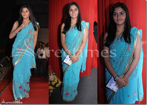 Sunaina_Blue_Saree