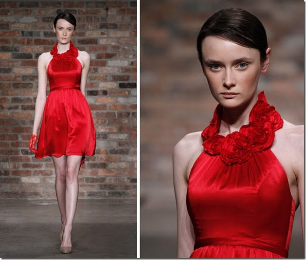 rosette_red_bridesmaid_dress_Melissa_Sweet