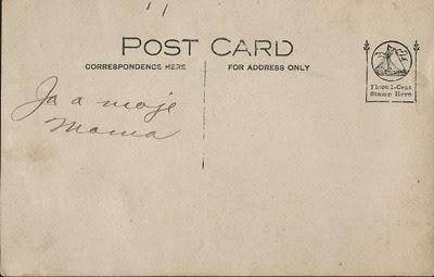 Joe Praska and wife Joans Postcard back