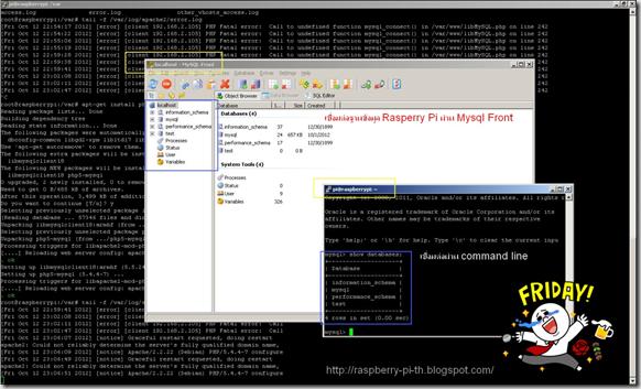 MySQL Front + Raspberry Pi