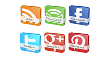 cones sociais 3D com efeito de giro para Blogger