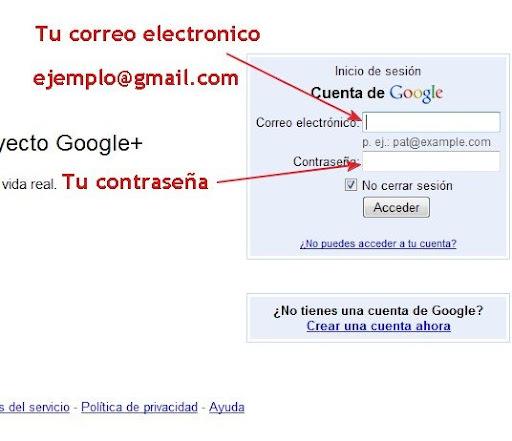 Google+ Plus Iniciar sesión imagen 2
