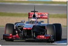 Button con la McLaren nei test di Jerez 2013