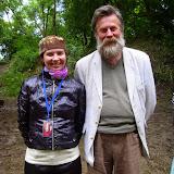 Я с украинским поэтом, драматургом и переводчиком, а так же  прекрасным импровизатором Олегом Лишегой