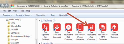โปรแกรมดาวน์โหลดและแปลงไฟลืวีดีโอจากyoutube ลง ipod