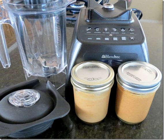 Homemade nut butters in the Blendtec