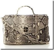 DKNY python print satchel