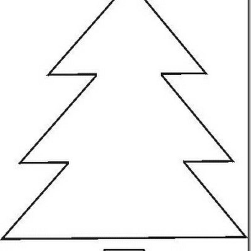 Plantillas estrellas y árbol de Navidad para manualidades