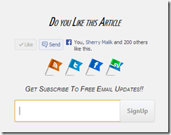 Subscription widget for blogger blog
