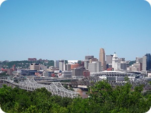 City of Cincinnati, viewed from DeVou Park, KY
