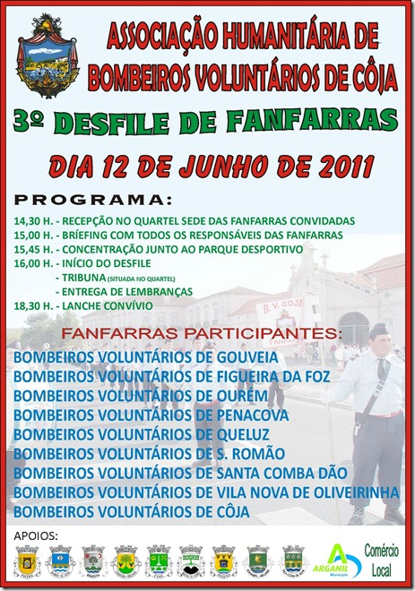 Cartaz 3 Encontro Fanfarras - BV Coja