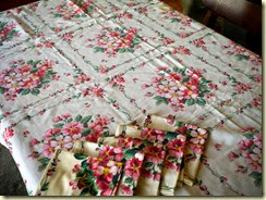 Apple blossom tablecloth