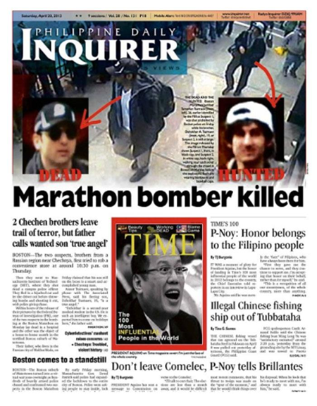 Philippine Daily Inquirer uses fake TIME cover