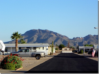 A nice capture of the mountain to our north, in the early morning sun.
