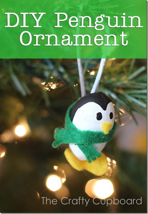 DIY Penguin Ornament by the Crafty Cupboard