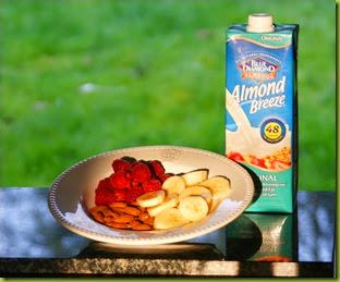 reciperaspberry and banana almond milk smoothie