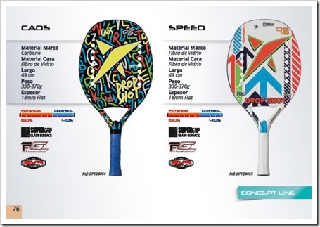 DS Beach Tennis / Tenis Playa 2015 / modelos caos y speed