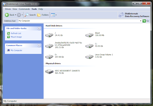 Linux Reader su Microsoft Windows