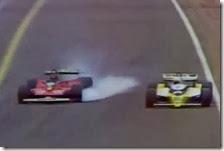Il duello tra Gilles Villeneuve e René Arnoux
