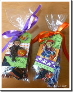 Halloween Trick or Treat Bags with tags