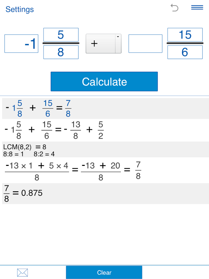 Fraction calculator Screenshot 12