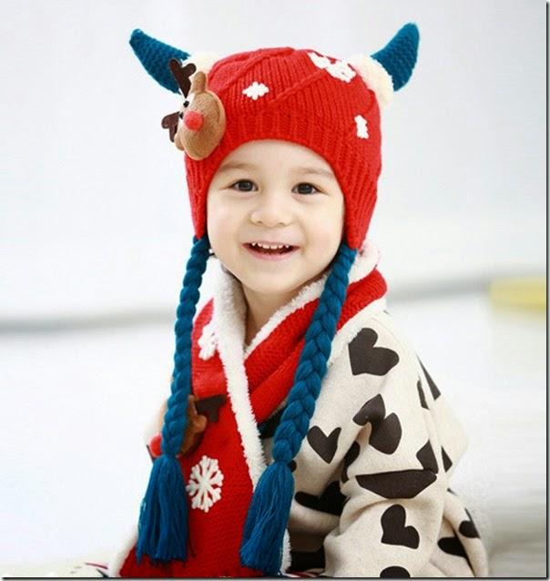 可愛兒童冷帽圍巾套裝_1