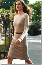 Cashmere Boat Neck Dress