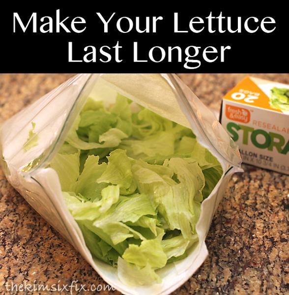 Make lettuce last longer