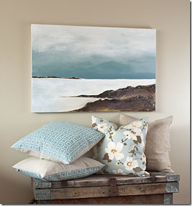 ocean painting via thrifty decor chick