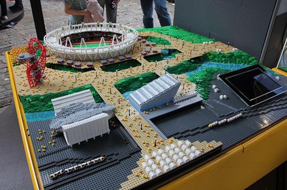 Parque Olímpico de Londres em Lego