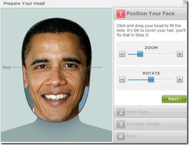 Gagnam Style personalizzato zoomare e ruotare viso