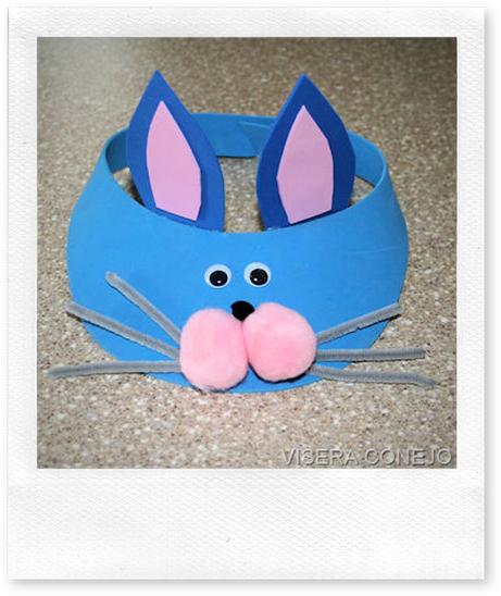 Manualidades  Visera Con Conejo En Foamy