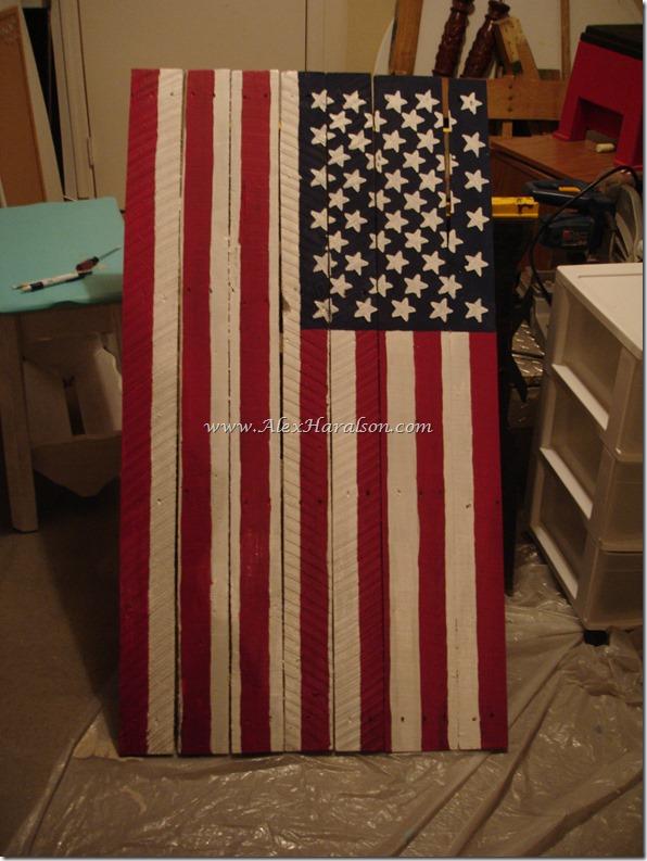 Pallet Wood American Flag13