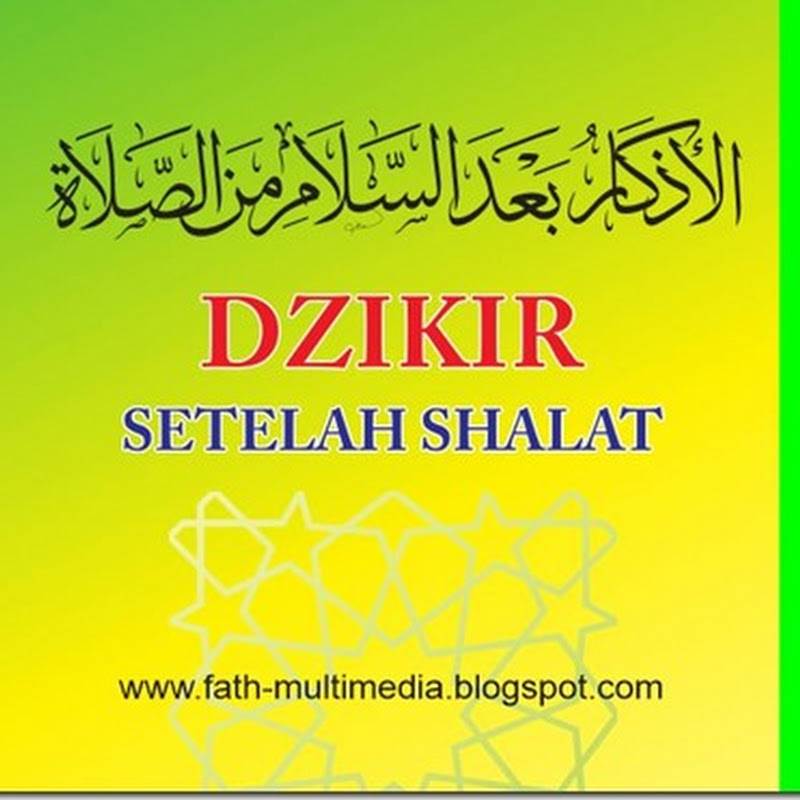 Vector Adzkar Ba'da Shalat (High Quality)