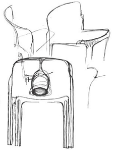 Sketch for Selene chair