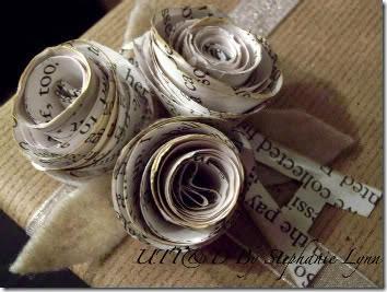 lazos y flores con papel periodico (7)
