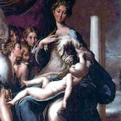90 - Parmigianino - Madonna del cuello largo