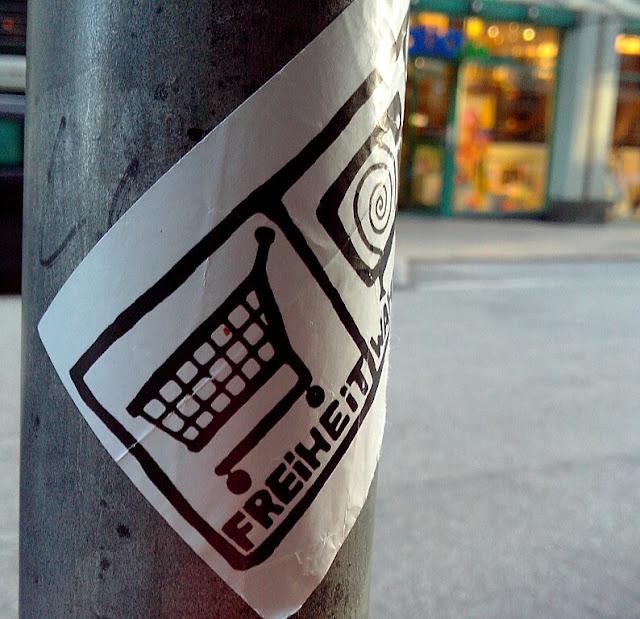 Street Art Aufkleber