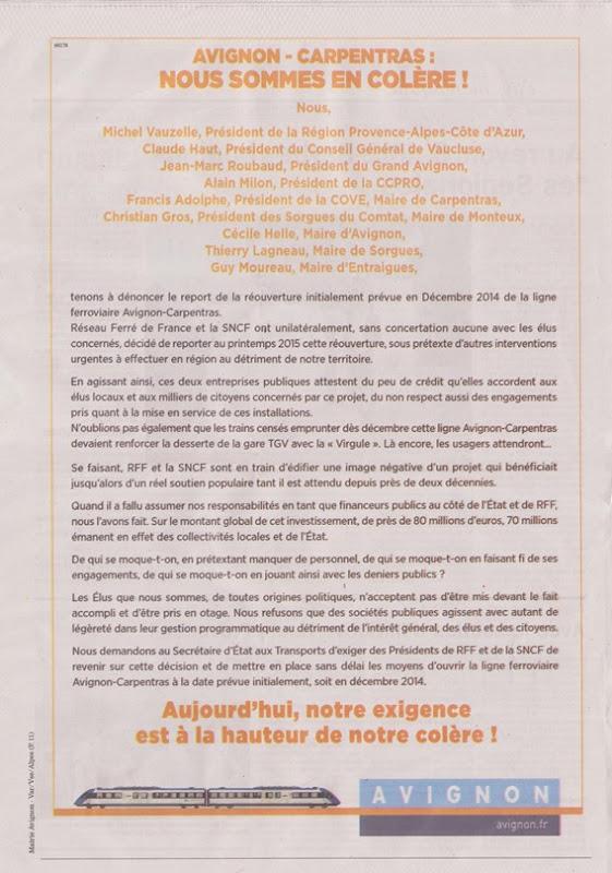 Publicitat dels elegits contra la SNCF RFF