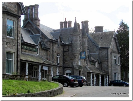 Invercauld Arms hotel, Braemar, stands where the royal standard was raised in 1715.