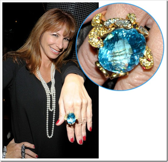Jill Zarin giant aquamarine ring