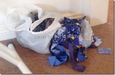 2014 blue scrap bag
