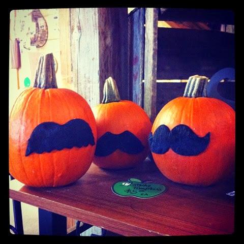 mustache pumpkins 2