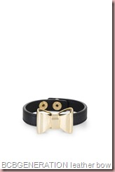 BCBGENERATION LEATHER BOW BRACELET